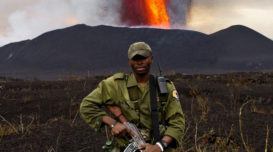 Shot from the movie Virunga (2014)